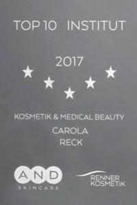Carola Reck - Auszeichnung - Top Institut 2017
